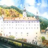 Kloster Marienberg, Südtirol, 30 x 20 cm