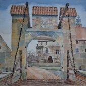 Burg Vischering, Tor, 37 x 28 cm