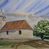 St. Hippolyt Kirche in Südtirol, 30 x 20 cm