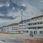 Helgoland Kurpromenade, 38 x 28 cm