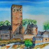 Hattingen III, Burg Blankenstein, 30 x 22 cm