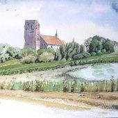 alte Kirche Pellworm, 30 x 20 cm