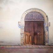 vom Kloster Marienberg / Südtirol, 30 x 20 cm
