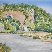 Der Isenberg mit Ruhrbogen, 37 x 28 cm