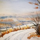 Winterlandschaft, 30 x 20 cm