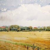 Herbstlandschaft, 30 x 22 cm