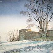 Burg Volmarstein im Winter, 30 x 22 cm