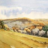 Herbstlandschaft II, 30 x 22 cm