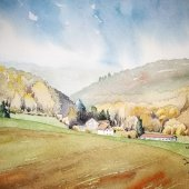 Hattinger Hügelland III, 30 x 20 cm