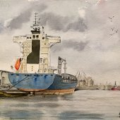 Bremerhaven, 30 x 20 cm